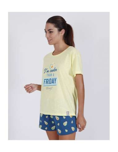 Pijama Mr Wonderful Mujer Aguacate