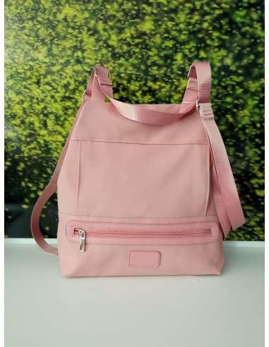 Mochila nylon rosa