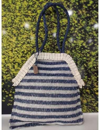 Bolso Maluca azul rayas