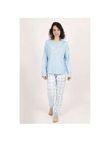 Pijama Let´s do it Azul Cuadro