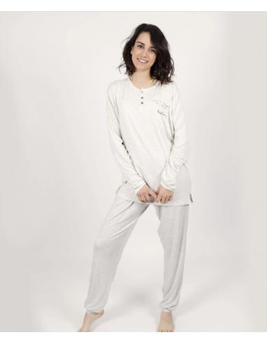 Pijama Admas gris suave
